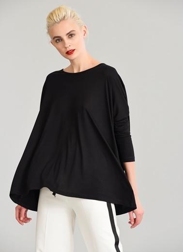 People By Fabrika Oversize Basic Tişört Siyah